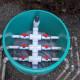 Septic system graveless chamber pressure bed hydrosplitter