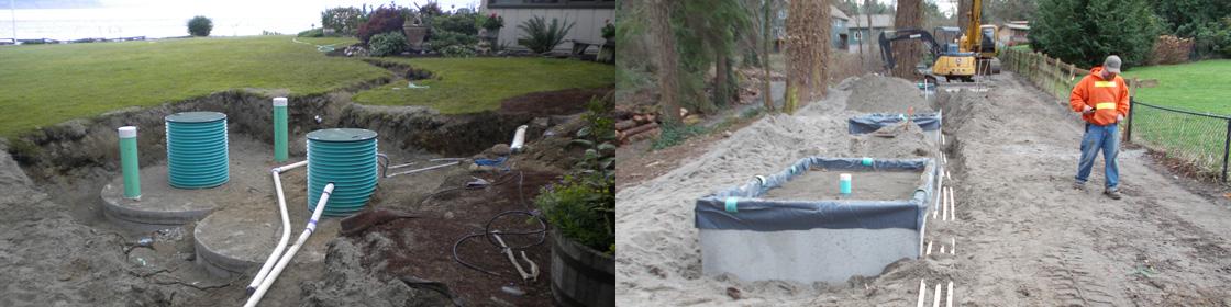 Hansville septic system repair, Glendon biofilter