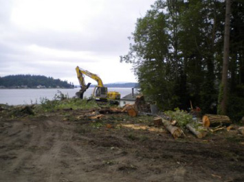 Land clearing and leveling services